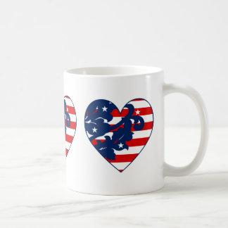 Cute patriotic heart classic white coffee mug
