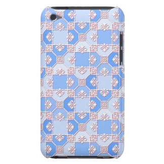 Cute Pattern in Shades of Blue Barely There iPod Covers