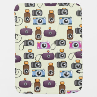 Cute Pattern of Cameras Baby Blanket