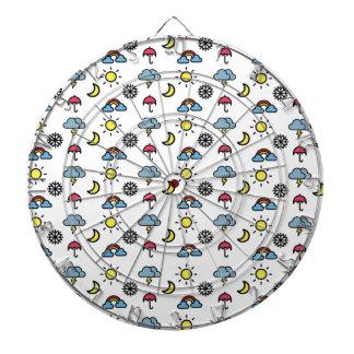 cute pattern weather dart board