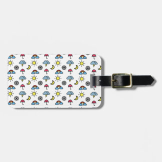 cute pattern weather luggage tag