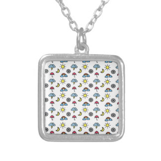 cute pattern weather silver plated necklace