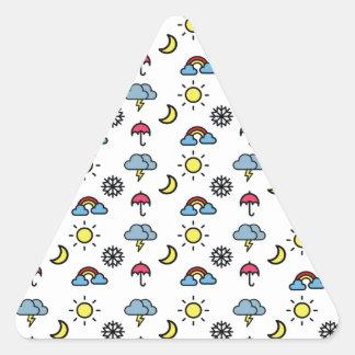 cute pattern weather triangle sticker
