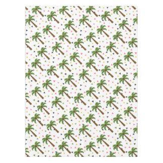 Cute pattern with palm trees and geometric shapes tablecloth