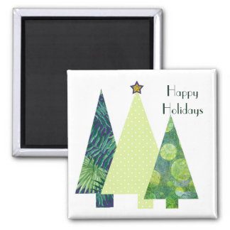 Cute Patterned Christmas trees Magnet