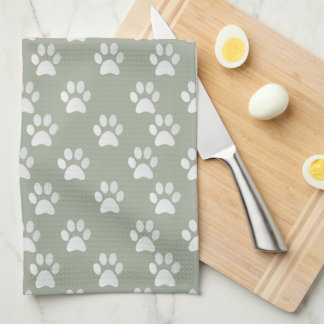 Cute Paw Pattern Cat Chasing a butterfly Kitchen Towel