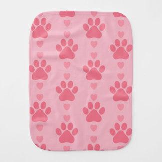 Cute Paw Print Burp Cloth