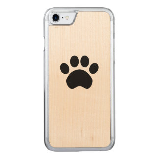 Cute Paw Print Carved iPhone 8/7 Case