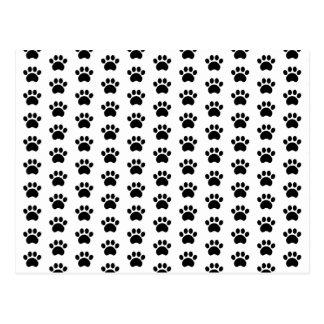 Cute Paw Print Pattern Postcard