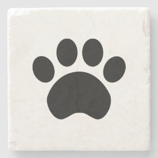 Cute Paw Print Stone Coaster