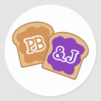 Cute PB&J Classic Round Sticker