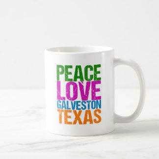 Cute Peace Love Galveston Texas Coffee Mug