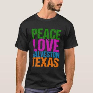 Cute Peace Love Galveston Texas T-Shirt