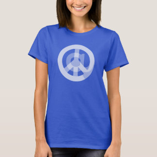 Cute @ Peace Sign Social Media Marketing Blogger T-Shirt