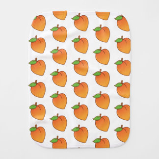 Cute Peach Pattern Burp Cloth