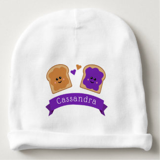 Cute Peanut Butter and Jelly Baby Beanie