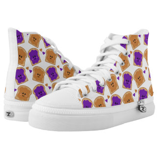 Cute Peanut Butter and Jelly High Tops