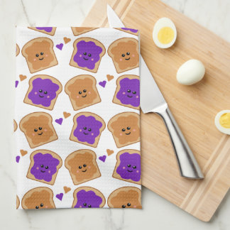 Cute Peanut Butter and Jelly Kitchen Towel