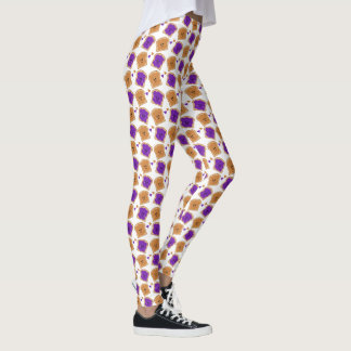 Cute Peanut Butter and Jelly Leggings