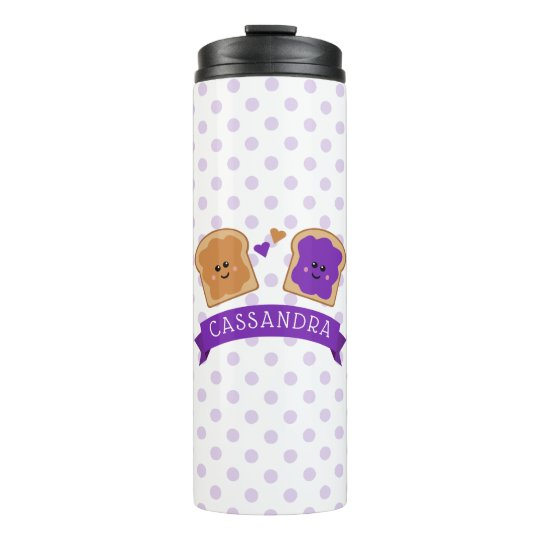 Cute Peanut Butter and Jelly Thermal Tumbler