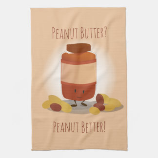 Cute Peanut Butter Jar | Kitchen Towel