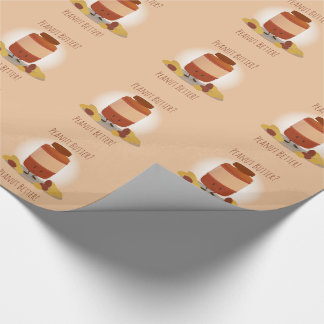 Cute Peanut Butter Jar | Wrapping Paper