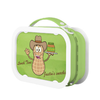 Cute Peanut Man & Peanut Butter Lunch Box