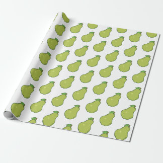 Cute Pear Pattern Wrapping Paper