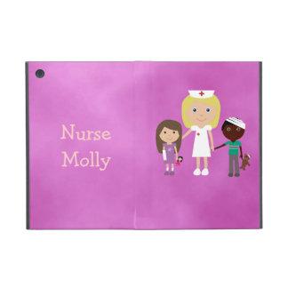 Cute Pediatric Nurse & Children Purple Cover For iPad Mini