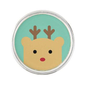 Cute Peekaboo Holiday Lapel Pin