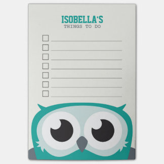 Cute Peekaboo Owl To Do List Post-it Notes