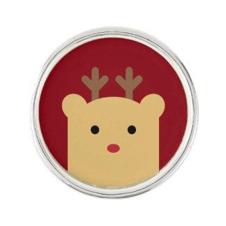 Cute Peekaboo Reindeer Lapel Pin