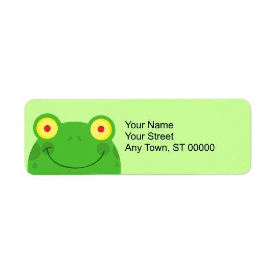 cute peeking cartoon frog froggy face