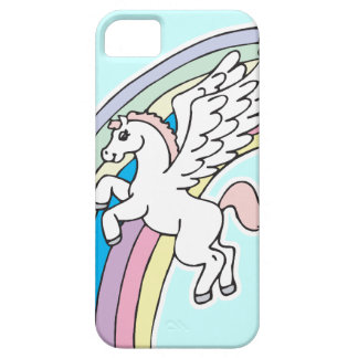 cute pegasus and unicorn cartoon graphic iPhone 5 case