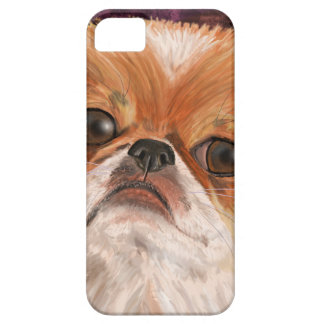 Cute Pekingese with white orange brown coat iPhone 5/5S Covers