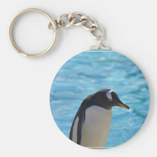 Cute Penguin Basic Round Button Keychain