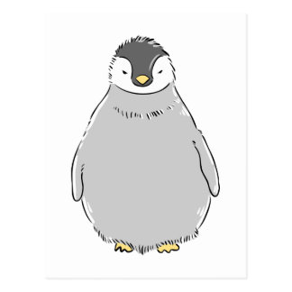 Cute Penguin Chick Postcard