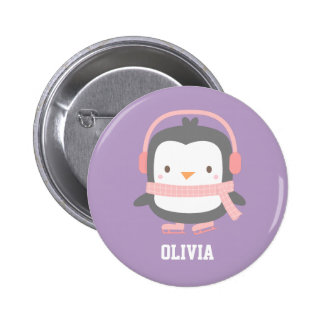 Cute Penguin Christmas Fillers for Girls 2 Inch Round Button