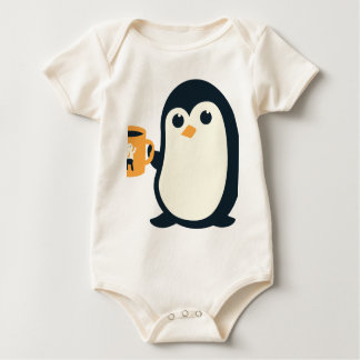 Cute Penguin Coffee Penguin Cute Animals Adorable Baby Bodysuit
