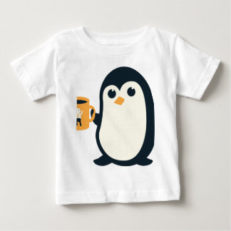 Cute Penguin Coffee Penguin Cute Animals Adorable Baby T-Shirt