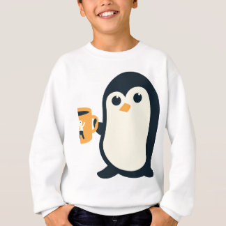 Cute Penguin Coffee Penguin Cute Animals Adorable Sweatshirt