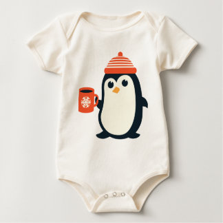 cute penguin cute animal winter hat adorable gift baby bodysuit