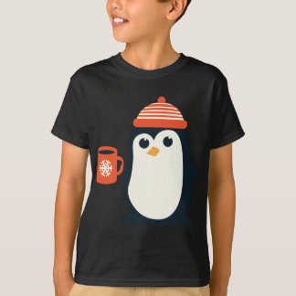 cute penguin cute animal winter hat adorable gift T-Shirt
