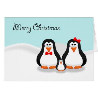 Cute Penguin Family Christmas Card