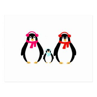 Cute Penguin Family Postcard