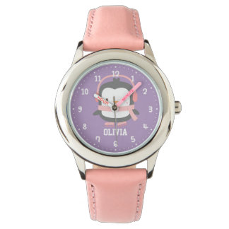 Cute Penguin Girls Personalized Watches