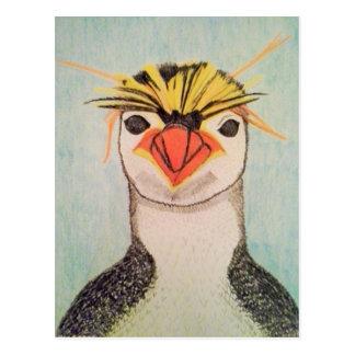 Cute Penguin Illustration Postcard