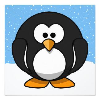 Cute Penguin Personalized Invites