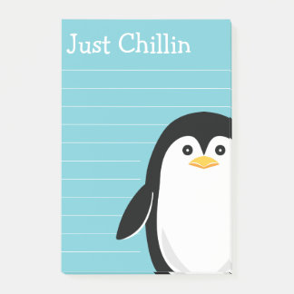 Cute Penguin Just Chillin Post-it Notes
