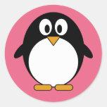 Cute Penguin Kawaii Cartoon Classic Round Sticker